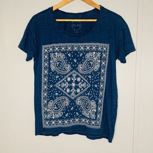 Lucky Brand Embroidered Top Large